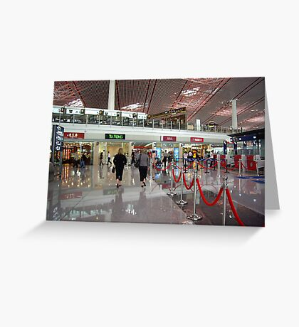 A Tiny Fraction of Beijing Airport. Greeting Card