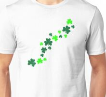 Green shamrocks Unisex T-Shirt