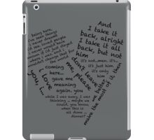 Quotes of the Heart - Janto (Black) iPad Case/Skin
