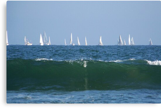 Boats & the waves by Elenne Boothe