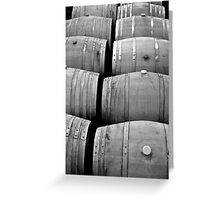 Oak Casks Greeting Card