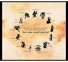 Elder Scrolls: Birth-signs Photographic Print