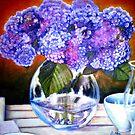 "From my Garden - Oil Painting Redone by Belinda ""BillyLee"" NYE (Printmaker)"