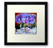 From my Garden - Oil Painting Redone Framed Print