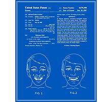 Vampire Teeth Patent - Blueprint Photographic Print