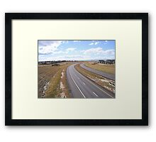 """ Freeway "" Framed Print"
