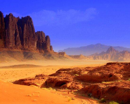 Wadi Rum, Jordan by Maureen Clark