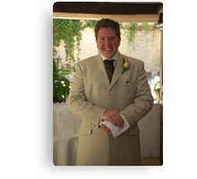 The Smiling Groom Canvas Print