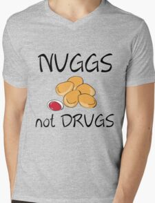 NUGGS NOT DRUGS Mens V-Neck T-Shirt