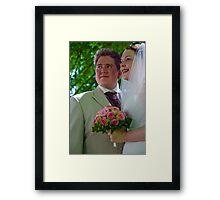 Bride & Groom Framed Print
