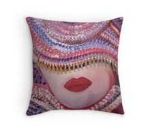 CARNIVAL Contemporary portrait Oil painting Throw Pillow