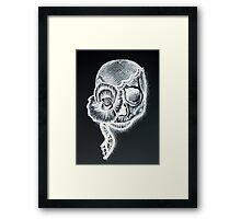 White Inverted Skull Framed Print