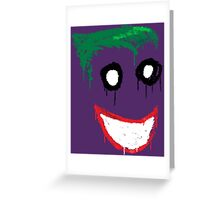 Joker Graffiti Greeting Card