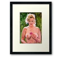 portrait of Marilyn Monroe Framed Print