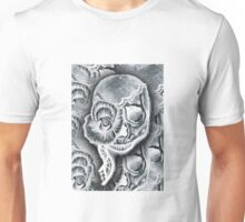 White Skull Collage Unisex T-Shirt