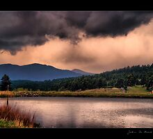 Country Lake Thunderstorms by John  De Bord Photography