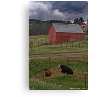 Thunderstorms On The Farm Canvas Print