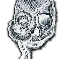 White Inverted Skull by HeatherMel