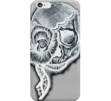 White Inverted Skull iPhone Case/Skin