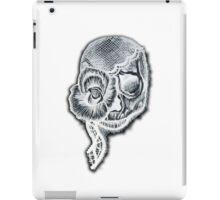 White Inverted Skull iPad Case/Skin