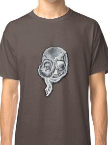 White Inverted Skull Classic T-Shirt