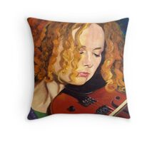 Concentration~Portrait of Mary Custy Throw Pillow