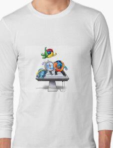 Browser Wars Poster Long Sleeve T-Shirt