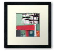 House with Pines Framed Print