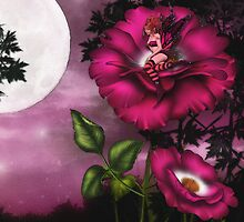 BED TIME IN THE ROSE GARDEN by Michael Beers
