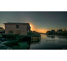 Sunset at Peggy's Cove II Photographic Print