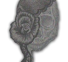 Lady Skull Pointillism by HeatherMel