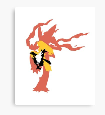 Mega Blaziken Evolution line Canvas Print