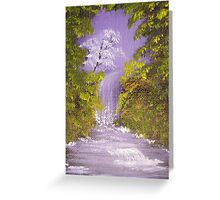 ACEO Purple Falls Greeting Card