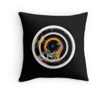 Natures bullseye, multicolor, flipped photo Throw Pillow