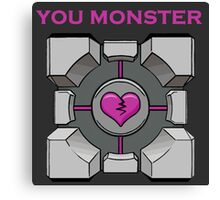 You Monster (dark) Canvas Print