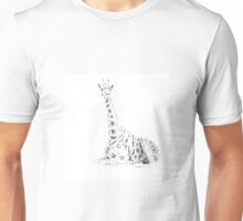 Silhouette giraffe Unisex T-Shirt