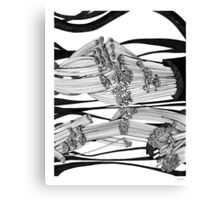Digits and Cables Canvas Print