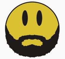 Smiley with beard. Hipster. Kids Clothes