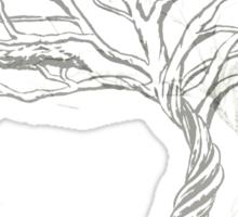 Acacia Shadow , black and white beautiful zen tree  Sticker