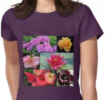 Favourite Flowers Collage Womens Fitted T-Shirt