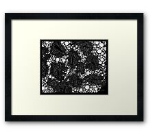 Stochastic - Black Framed Print