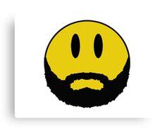 Emoticon with beard. Canvas Print