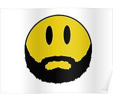 Emoticon with beard. Poster