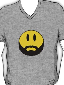 Emoticon with beard. T-Shirt