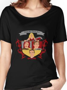 Buffy the Vampire Slayer Scooby Gang Family Crest Women's Relaxed Fit T-Shirt