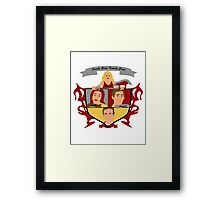 Buffy the Vampire Slayer Scooby Gang Family Crest Framed Print