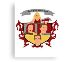 Buffy the Vampire Slayer Scooby Gang Family Crest Canvas Print