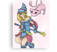 Dark Magician Girl and Mew Canvas Print