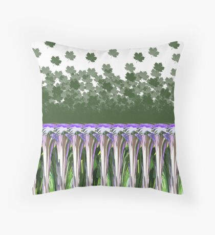 Abstract Floral Print Throw Pillow
