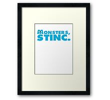 Monster's Stinc. Framed Print